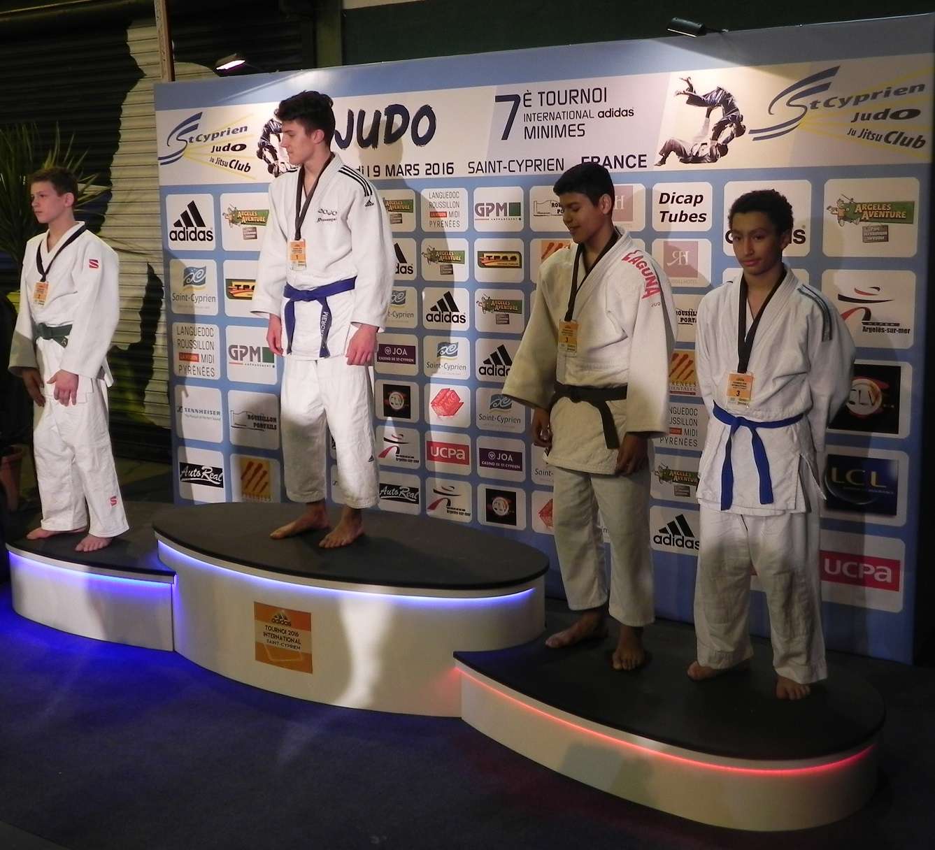 Najim DRIA médaille de bronze au Tournoi International de Saint-Cyprien